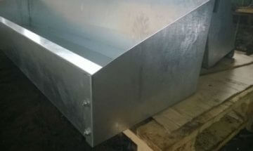 Trough for animal husbandry